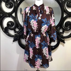 On Trend! Ann Taylor Maroon Floral dress size S